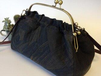 #79 柿渋染めがま口バッグ&ショルダーの画像