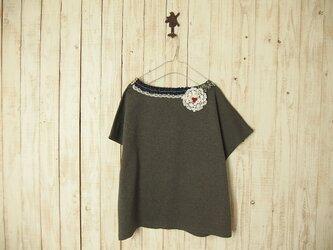 コラージュTシャツ/チャコール6-3の画像