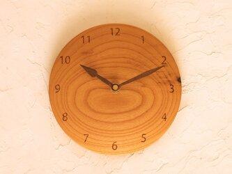 掛け時計 丸 ケヤキ材26の画像