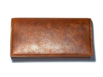 牛革 Brown 長財布の画像