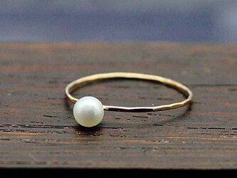 手作り14Kgf Ring ~淡水パールセット~の画像
