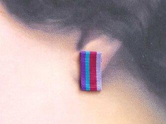 グログランリボンのイヤリング<ストライプ>の画像