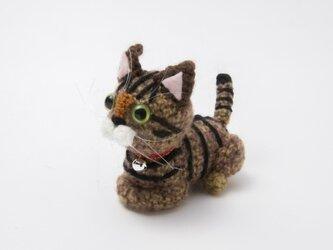 猫あみぐるみ(キジトラ)の画像