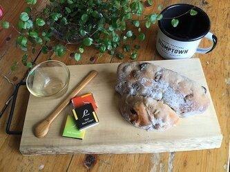 *男気インテリア*アイアンハンドル付き イヌマキの木カフェトレイNo4の画像
