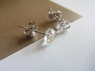 Silver925 NY herkimer diamond piercedの画像