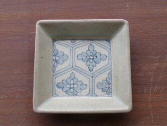 小角皿 染付花紋の画像
