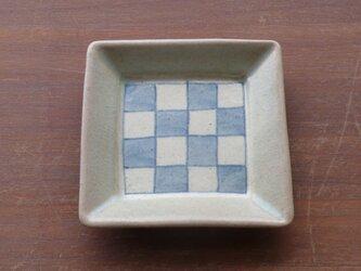 小角皿 染付市松の画像