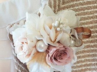 数量限定!!プリザーブドフラワー春の入学式・結婚式にナチュラルピンクのコサージュの画像