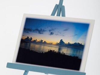 手作りイーゼルとPhoto Post Card(風景)5枚セットの画像