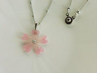 シバザクラのネックレス(ピンク)の画像