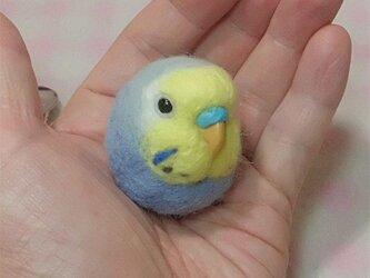 ☆選べる2タイプ☆ コロコロ♪ 羊毛の小鳥  セキセイ レインボー ライラック☆選べる鼻の色の画像