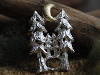 【受注制作】『森の上の月』ペンダント・トップの画像