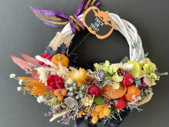 Halloween Dryflower wreathの画像