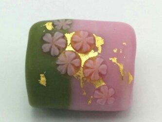 桜の帯留 艶消しの画像
