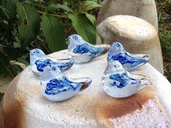 ガラスの小鳥『ブルー』の画像