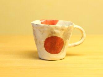 粉引き手びねりうめぼしのデミタスカップ。の画像