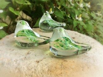 ガラスの小鳥『グリーン』の画像