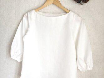 【ご予約商品】ホワイトリネン パフスリーブブラウスの画像