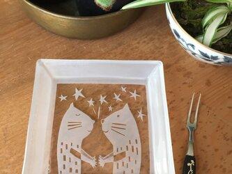角皿   秘密の約束猫の画像