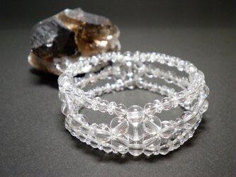 「 kotoha 」天然水晶ブレスレット 002の画像