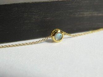 【K14gf】宝石質ラブラドライトのネックレス ラウンド5mmの画像