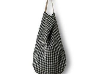 dropbagモノトーンギンガム×ホワイトハンドルの画像