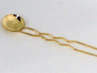 【かんざし】丸皿付(ゴールド )の画像