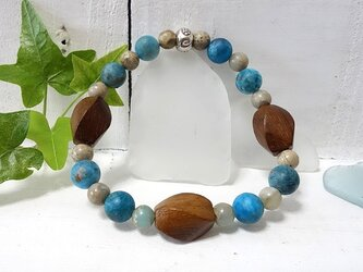 woodbeads series*BLUE APATITE*の画像