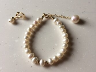 Pearl Bracelet & Earrings Oさま用の画像