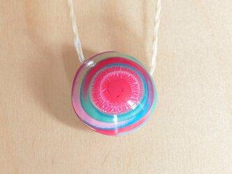 手作りビーズネックレス -SPIRAL: Pink x Blue 2-の画像