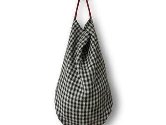 dropbagモノトーンギンガム×レッドハンドルの画像