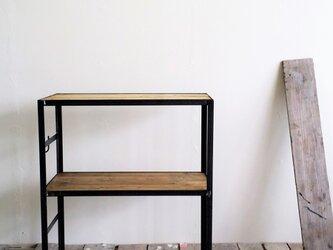 キッチンシェルフ・ラック【アイアンシェルフ/Iron shelf/2段/アジャスター】の画像