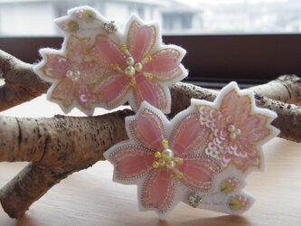 [受注制作] 桜ブローチ [桜咲く]の画像