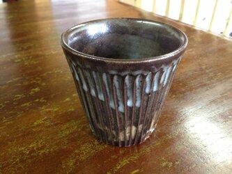 粉青沙器 線模様フリーカップ 黒の画像