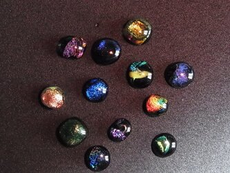 ヒュージンググラス5個セット(ダイクロガラス)の画像