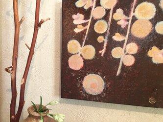 18x18cmパネル「月と萩(はぎ)」の画像