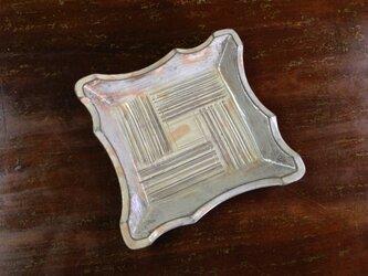 粉青沙器 角皿 白の画像