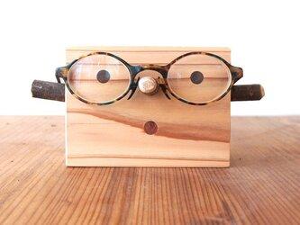 【敬老の日・父の日・母の日・誕生日】WOOD眼鏡かけの画像