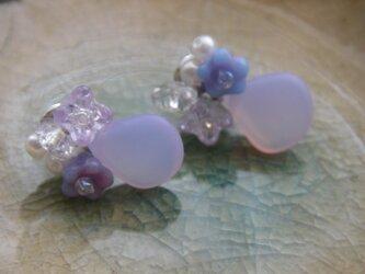 Ajisai(紫陽花)ビジューピアスの画像
