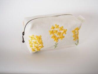 【オーダーメイド】春色 キャラメルポーチ 菜の花の画像