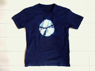 ◆100%自然素材 天然灰汁発酵建て 本藍染め製品◆ オーガニックコットンTシャツ(Mサイズ)の画像