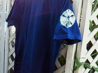 ◆100%自然素材 天然灰汁発酵建て 本藍染◆ オーガニックコットンTシャツ (Lサイズ)の画像