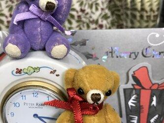 テディベア カラチャンとカルメラちゃん ミニチュアの画像