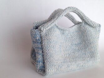 藍染めのコットンバッグの画像