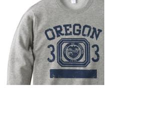 オレゴン 33 オールドスクール風 トレーナー【受注生産品】の画像