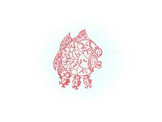 牛の角の版子 「次ハドコ江行キマしょカ」の画像