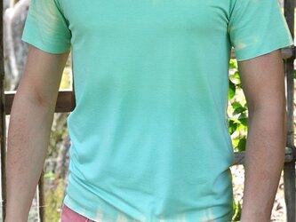 絞り染めTシャツ ミントグリーンの画像