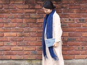 藍染レーヨンストール(藍色・淡)の画像