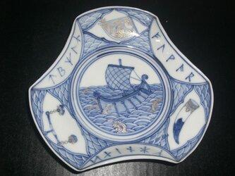 毘沙門型バイキング文皿(中)の画像