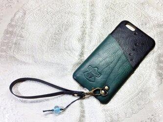 iPhone6plus対応「お財布ケータイ」仕様カバー『海星』の画像